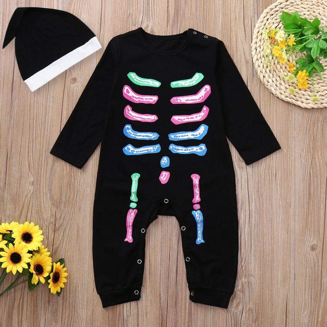 Vinjeely Infant Baby Girls Boys Halloween Costume Romper Long Sleeve Jumpsuit Clothes 0-24M