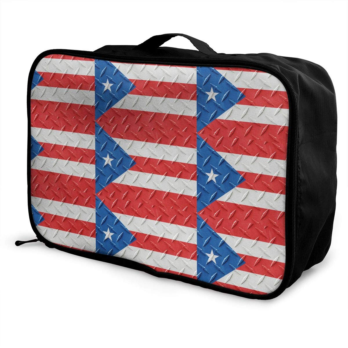 b47267345f9b Amazon.com: Flag Of Puerto Rico Pattern Luggage Bag Capacity ...