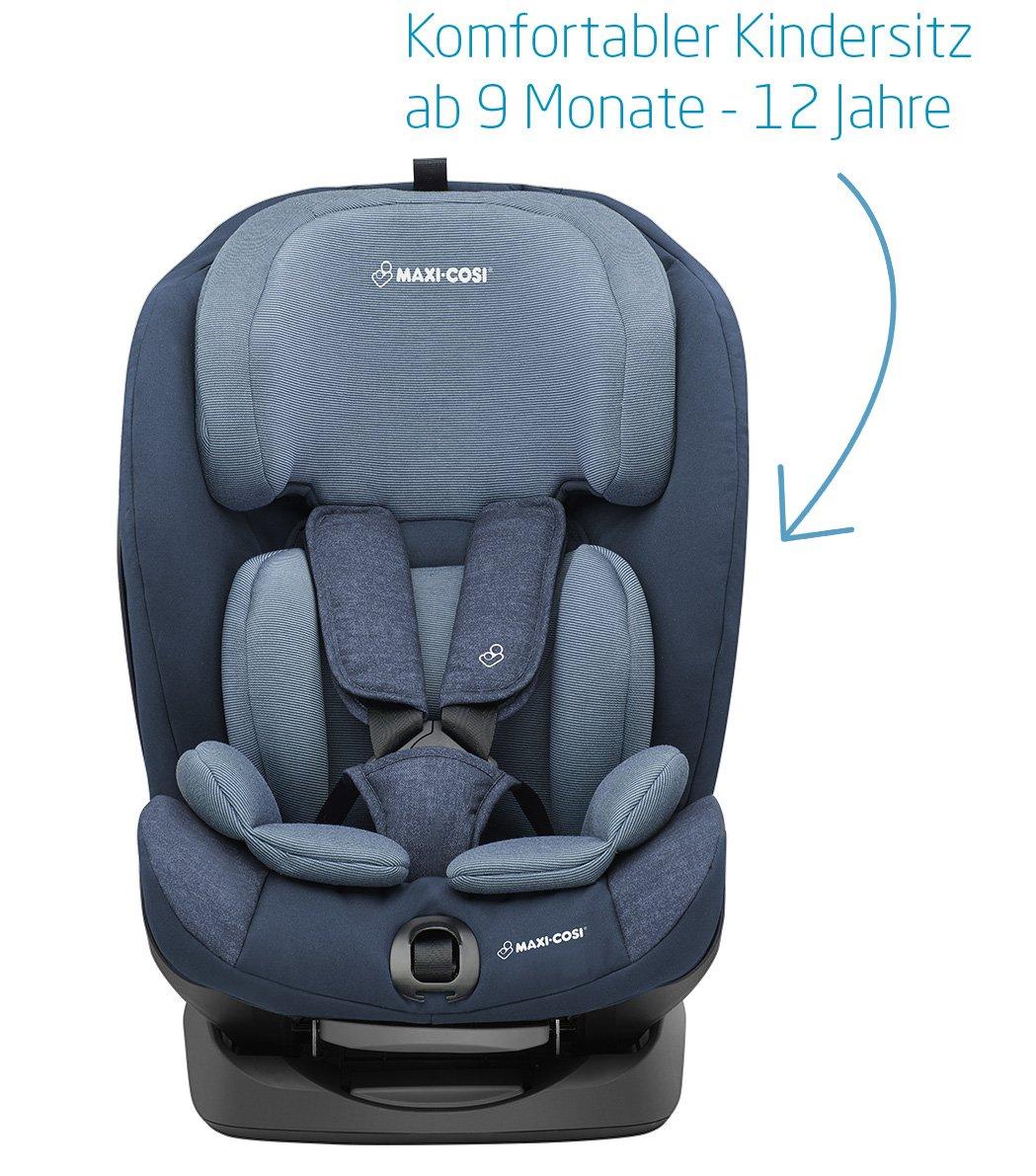 Maxi-Cosi 8603243110 - Titan niños asiento 9 - 36 kg con Isofix (Grupo 1/2/3), saco de asiento infantil para coche 123 con posición de dormir, Nomad Blue, ...