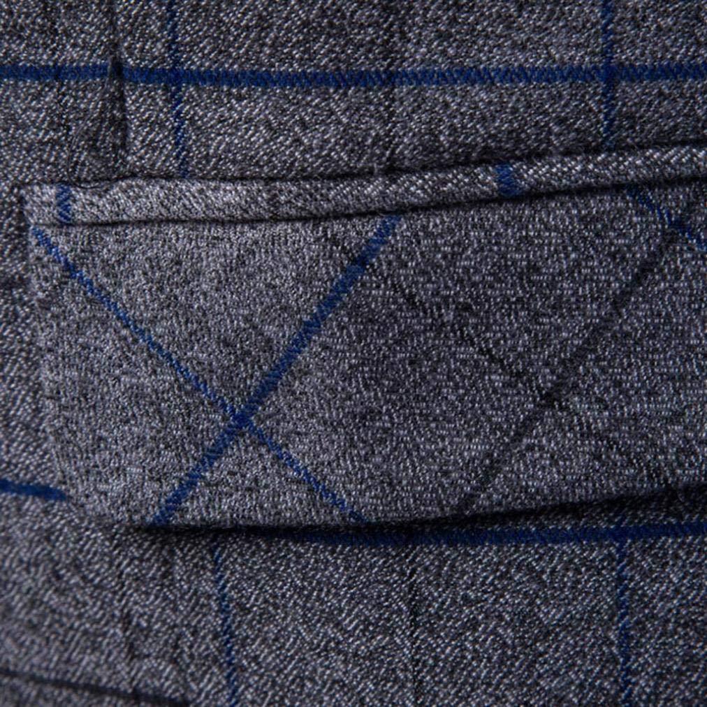 iLXHD Casual Men Plaid Printed Sleeveless Jacket Coat Suit Vest Blouse by iLXHD (Image #9)