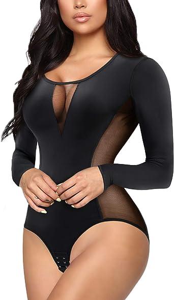 Women/'s Short Sleeve Bodycon Jumpsuit Career Shirt Romper Bodysuit Leotard Top