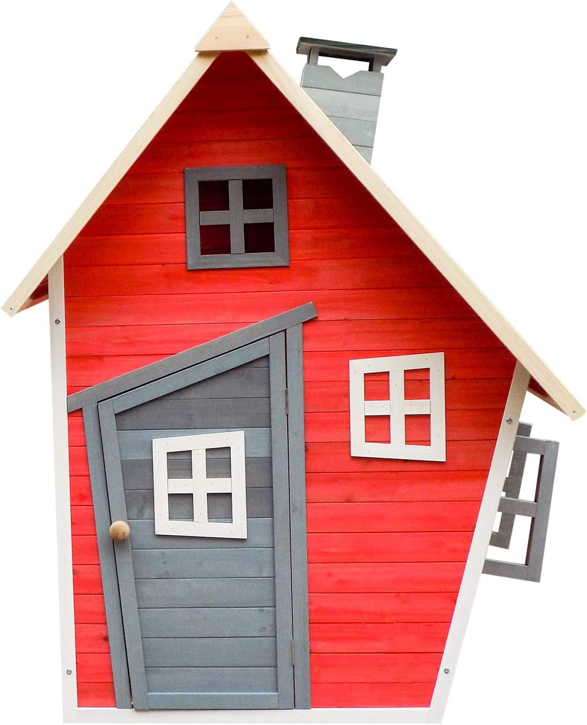 Outdoor Toys. Casita Infantil Fantasy Red Decorada. Dim: Ext: 120 X 102 X 150 Cm.