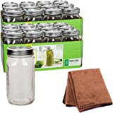 Ball Quart Jar, Wide Mouth, Set of 24 with Cleaner Cloth