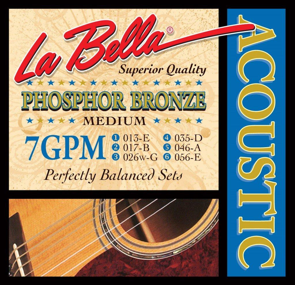 Labella 7GPCL Phosphor Bronze, Saiten für akustische Gitarre, 011-052 La Bella