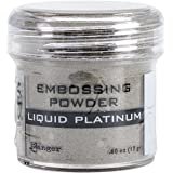 Ranger Embossing Powder, 0.6-Ounce Jar, Liquid Platinum