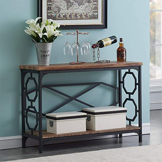 Amazon.com: O&K Furniture Entryway Table with Storage Shelf