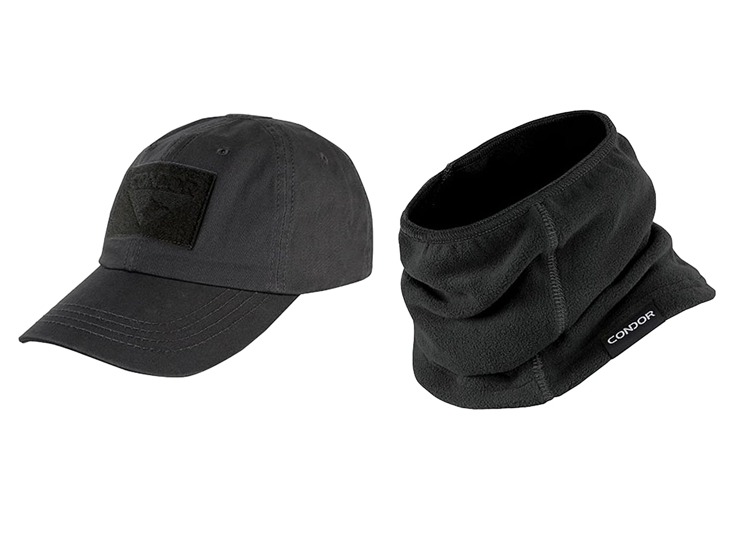 Amazon.com  CONDOR Black Tactical Cap Black Thermo Neck Gaiter Bundled by  Maven Gifts  Sports   Outdoors ef7b4178f4dc