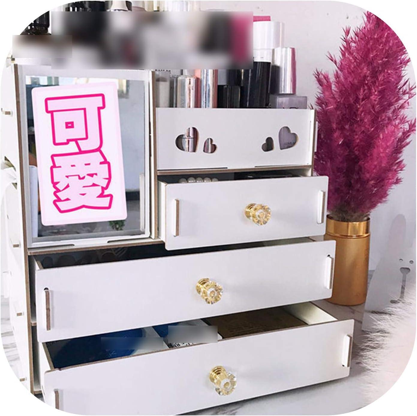Amazon Com Jewelry Container Wood Drawer Organizer Handmade Cosmetic Storage Organizer Box Diy Wooden Storage Box Makeup Organizer P