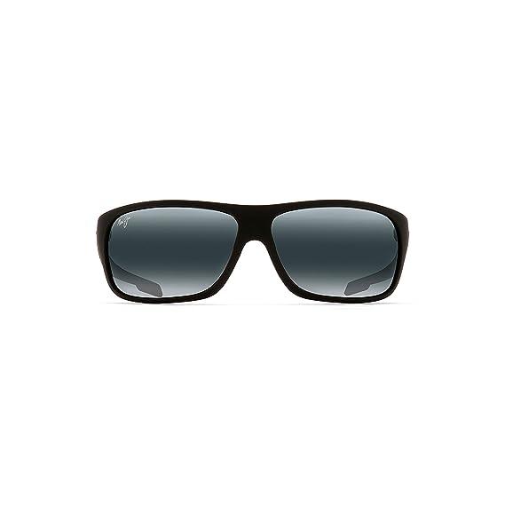 297911cb79a Maui Jim 237-2M Matte Black Rubber Island Time Rectangle Sunglasses  Polarised S  Maui Jim  Amazon.co.uk  Clothing