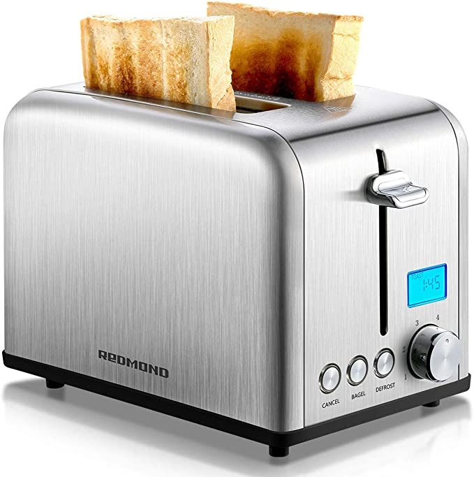 REDMOND Toaster 2 Slice, Stainless Steel Wide Slot Toaster
