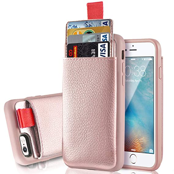 size 40 931c6 70f15 LAMEEKU iPhone 6S Plus / 6 Plus Wallet Case, Protective iPhone 6 Plus  Leather Case with Credit Card Slot Holder, Shockproof Cover Compatible for  Apple ...