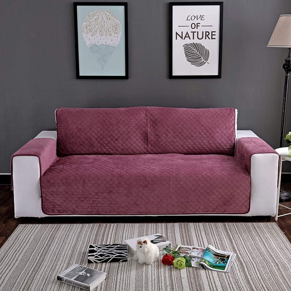 74.5in Wpsdry Canap/é Velours Matelass/ée Couch Covers Fauteuil Canap/é Inclinable pour Slipcovers Chiens Chats Pet Furniture Protecteur 1//2//3 Si/èges,Burgundy,21