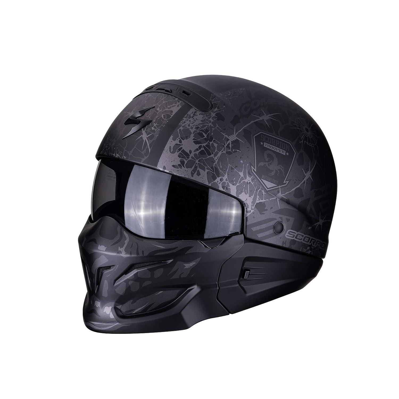 Casque moto EXO-COMBAT Stealth Matt Black-Silver M SCORPION