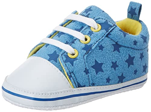 the latest 011f0 879e4 Playshoes Baby Canvas-Turnschuhe, trendiger Stoff-Sneaker mit  rutschhemmenden Noppen, mit Sternen-Muster