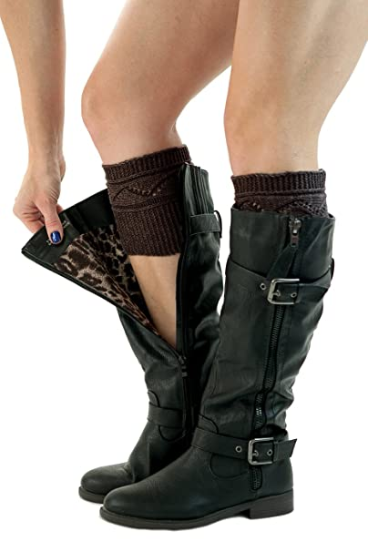 Best Selling Knit Boot Cuffs Crossover Pattern Boot Toppers By