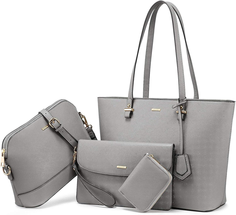 Handbags for Women Shoulder Bags Tote Satchel Hobo 3pcs Purse Set