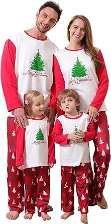 Pijama de Navidad para Toda la Familia, para mamá/Padre/niño de Selva, de Manga Larga