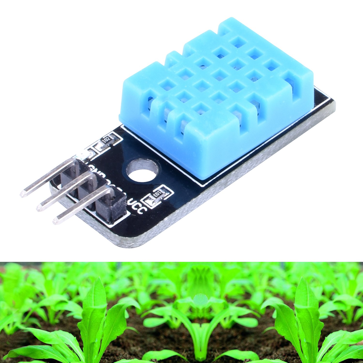 RPI Zero LK03 Longruner 5 PCS Temperature Humidity Sensor Module DHT11 with 20PIN Male to Female DuPont Jump Wires Cable for Arduino UNO R3 MEGA 2560 Raspberry pi 3 2 1 model B 2B A