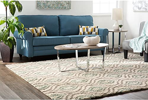 Mohawk Home Laguna Ogee Waters Woven Rug, 8 x10 , Green