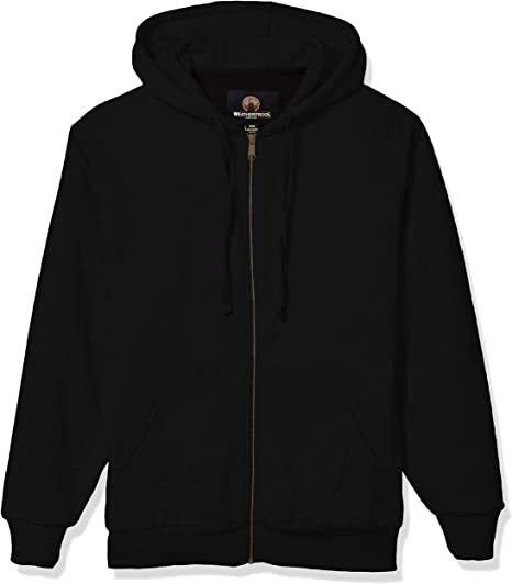 Mens Front Zip Fleece Hoodie with Thermal Lining Weatherproof Garment Co