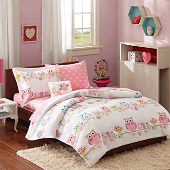 Exceptionnel Mi Zone Kids Wise Wendy Twin Comforter Sets For Girls   Pink, Owl U2013