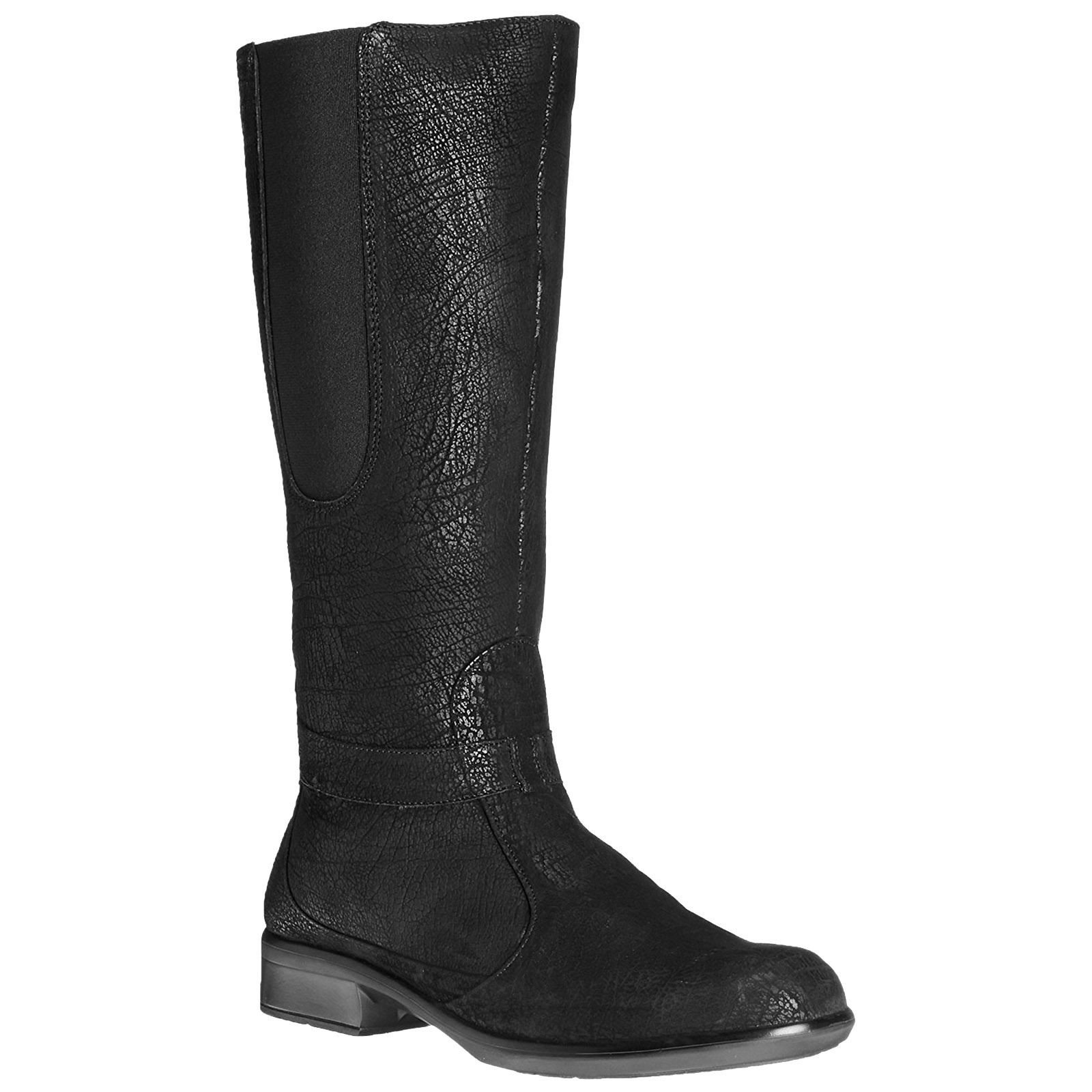 Naot Women's Viento Boot, Black Crackle Leather, 38 EU/6.5-7 M US