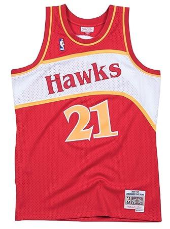 f0fc30d4a61 Mitchell   Ness Atlanta Hawks Dominique Wilkins Mens Mesh Swingman Jersey  in Red (Small)