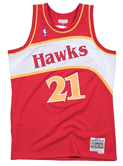 online store aa6b3 7802d Dominique Wilkins Atlanta Hawks Mitchell   Ness NBA Throwback Jersey - Red