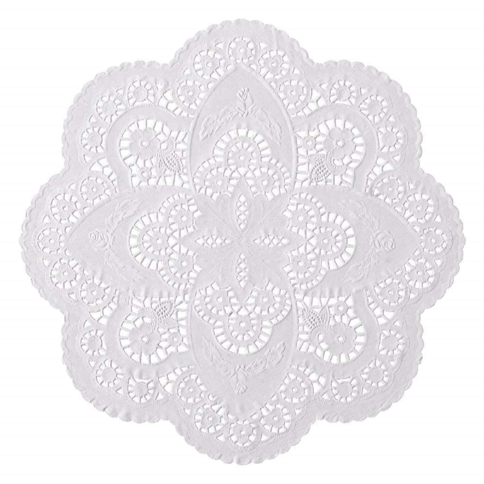 50 ct. 12-inch French Paper Lace Doilies Wedding Party Decor; Beautiful Pattern; Use them for various occasions