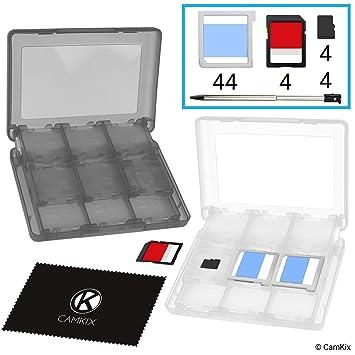 Nintendo 3ds Sd Karte.Camkix 2x Aufbewahrungsbox Kompatibel Mit Nintendo 3ds Spiele Passend Für Bis Zu 44 Spiele 4 Sd Karten 4 Micro Sd Tf Karten Und 4 Stylus