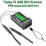 Tamlltide FlySky FS-iA6B 2.4GHz 6CH Receiver PPM Output with iBus Compatible Flysky i4 i6 i10 FS-GT2E FS-GT2G Transmitter