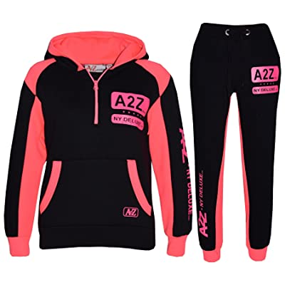A2Z 4 Kids® Kids Jogging Suit Boys Girls Designer's Tracksuit Zipped Top & Bottom 5-13 Years