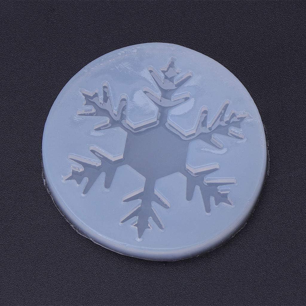 01# M Cuigu Silicone Resina epossidica Stampo di Natale Fiocco di Neve DIY Artigianato casa Decorazioni Ufficio Ciondolo Making Tool Silicone