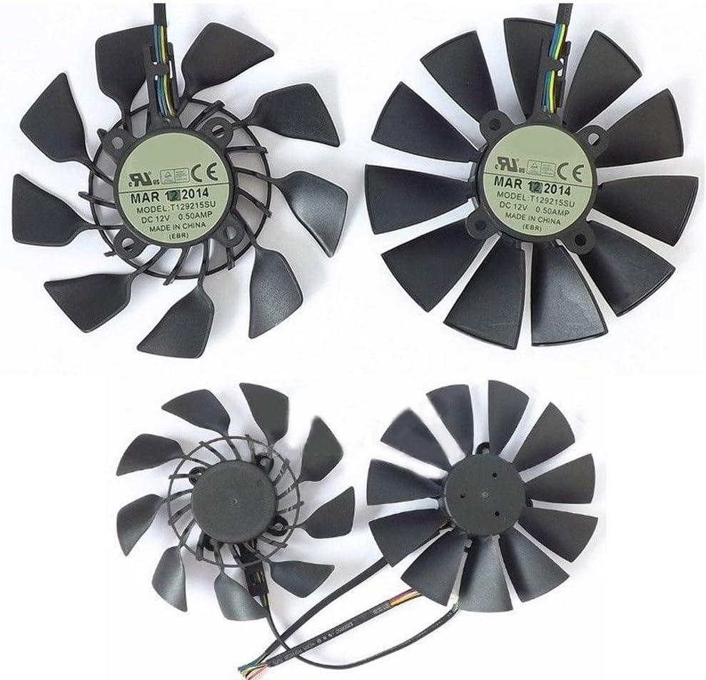 T129215SU DC 12V 0.5A VGA Card Cooling Fan For Graphics Card ASUS GTX780 GTX780TI R9 280 290 R9 280X 290X 1pcs B