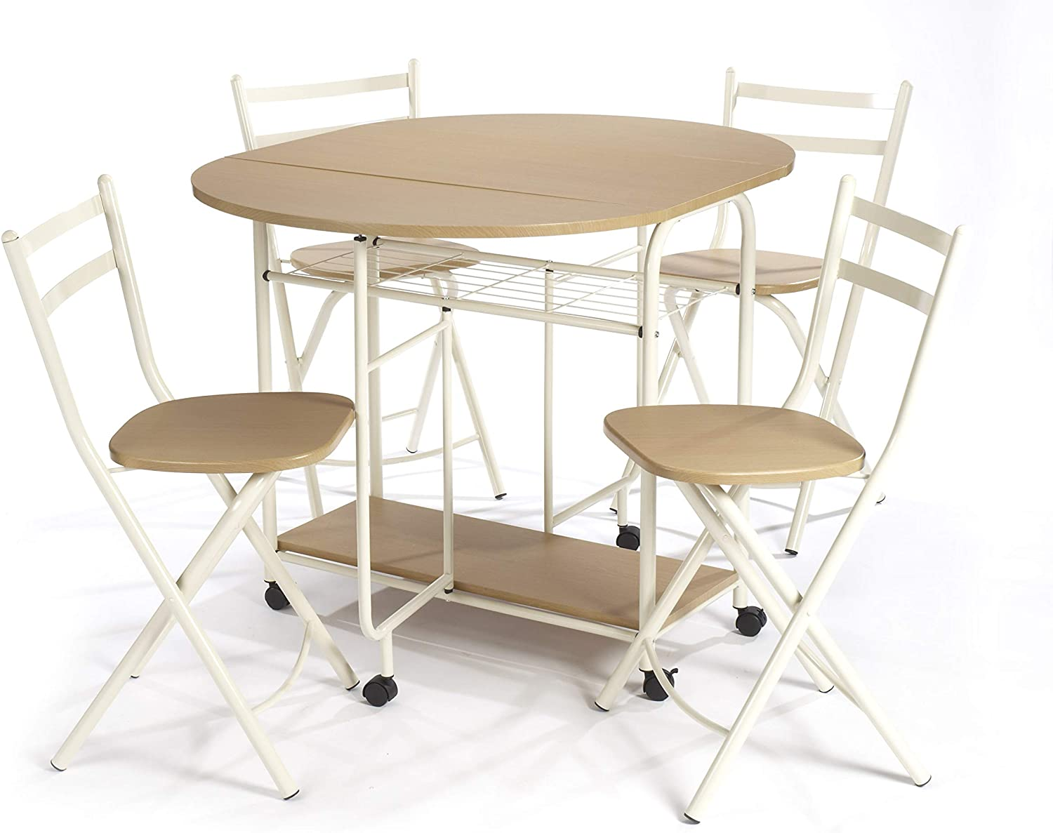 - Greenhurst Folding Dining Table And Chairs: Dining Table With
