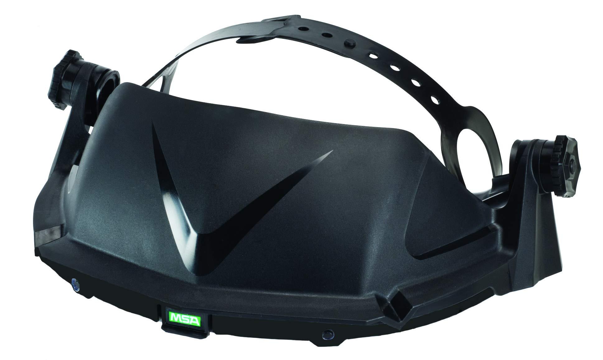 MSA 10127061 V-Gard Headgear, High Density Polyethylene, Standard, Black (Pack of 10) by MSA