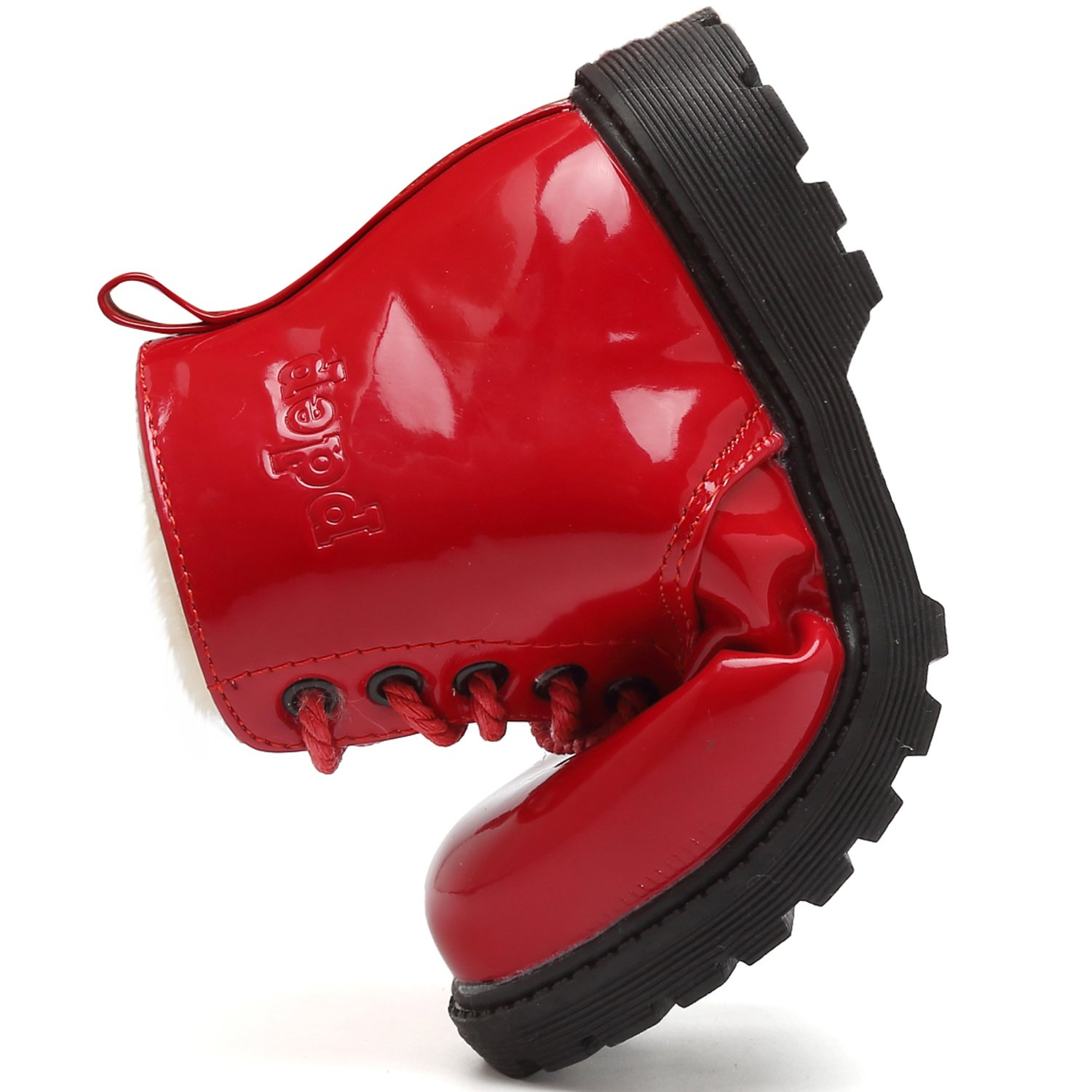 Toddler//Little Kid CIOR Girls Fashion Winter Warm Ankle Boots Zipper Cute Casual Shoes with Fur CAND042.Blue.28 Red CAND042-Red.26