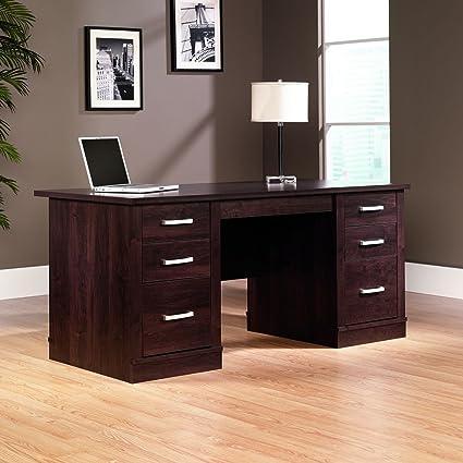 traditional nbf top wid with cherry executive sau com sauder inlay classic desk detail