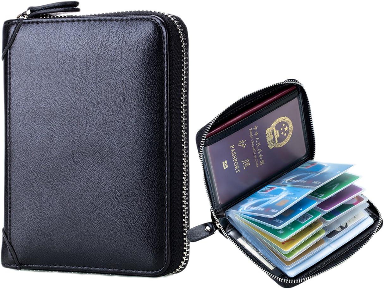 Braun iSuperb RFID Leder Reisepass Halter Geldb/örse Kreditkartenetui Geldb/örse Reiseorganizer