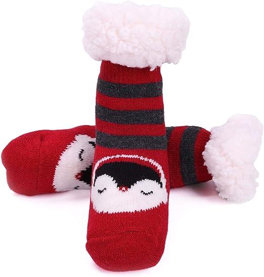 Baby Boys Girls Toddler Cute Animal Soft Fluffy Slipper Socks Leg Warmer 0-3yrs