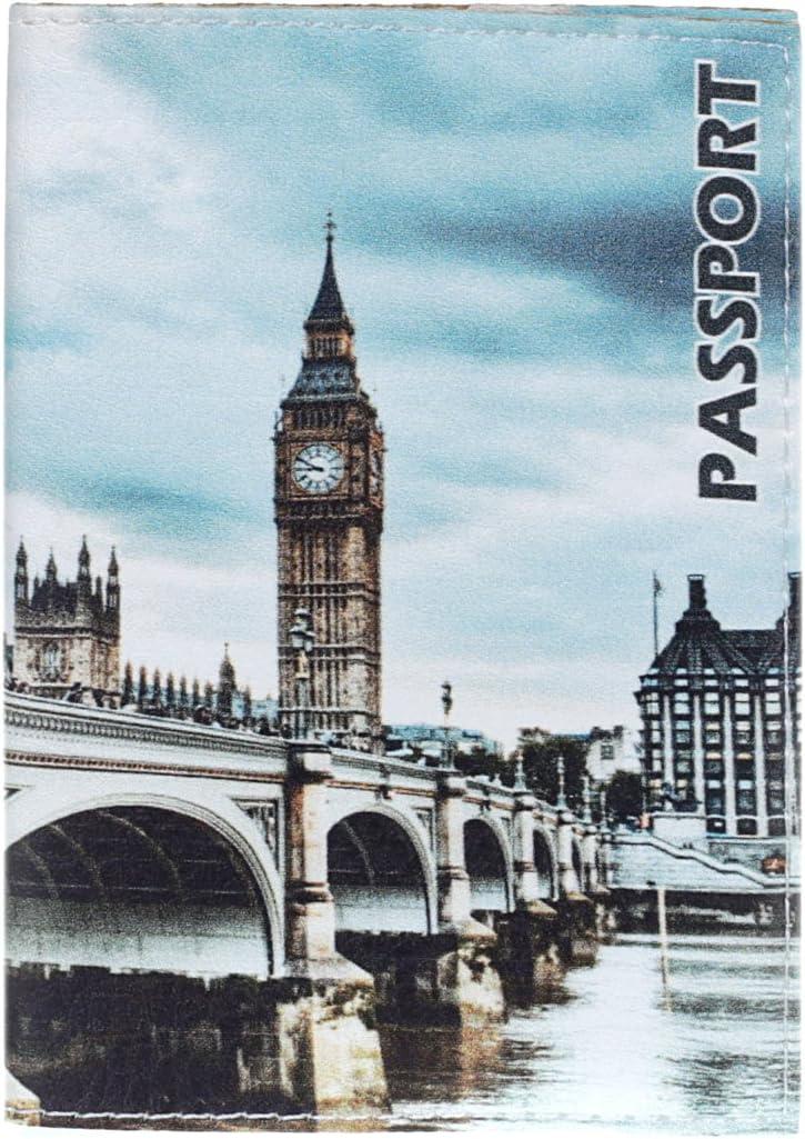 Londres JETLAGGER Etui Passeport londonien en Cuir