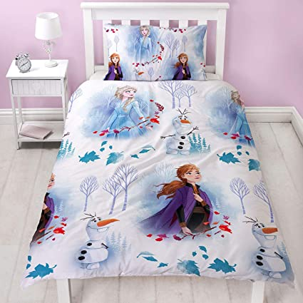 Copripiumino Elsa Frozen.Amazon Com Disney Frozen 2 Element Single Duvet Cover Set Home