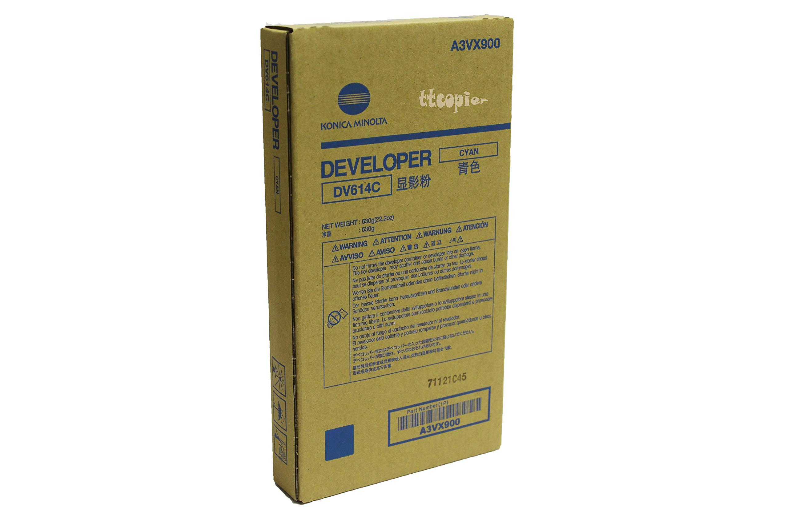 Genuine Konica Minolta A3VX900 DV614C Cyan Developer for C1060 C1070 by Konica-Minolta (Image #1)