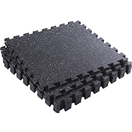 Amazon Interlocking Rubber Mats Superjare 6 Tiles Extra Thick