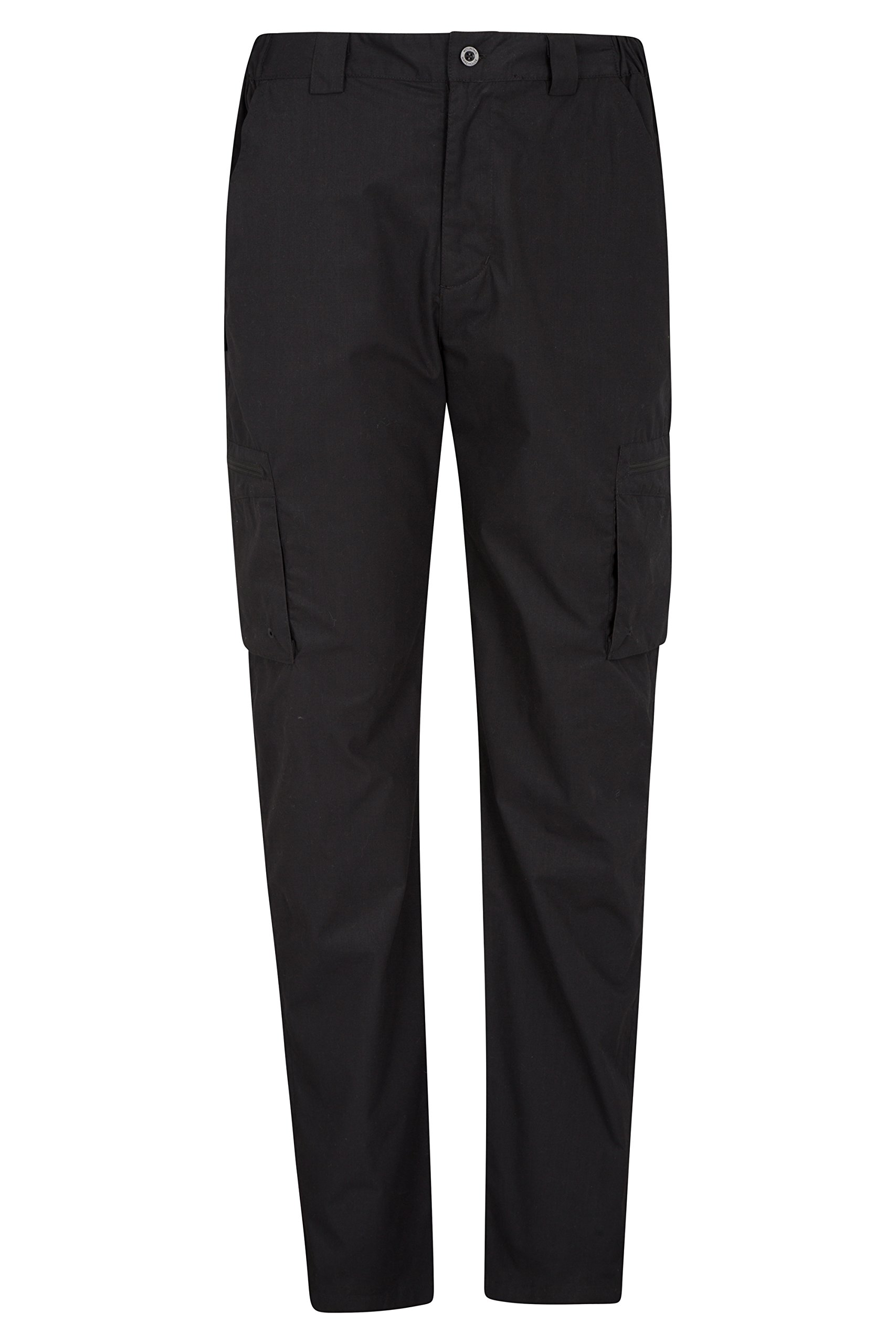 Mountain Warehouse Trek Mens Outdoor Trousers - Summer Hiking Pants Black 36