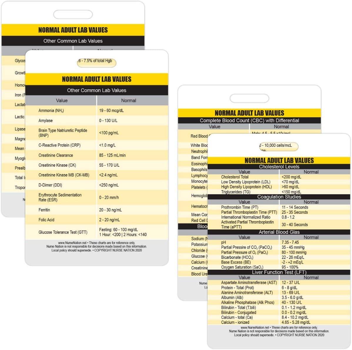 Bonus Cheat Sheets and More! EKG Nursing Lab Values Vitals Nurse Nation 30 Vertical Badge Reference Cards Set