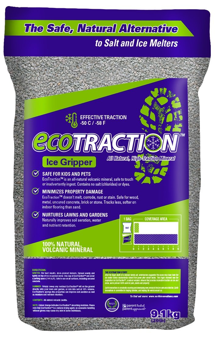 EcoTraction ET9RB All-Natural Volcanic Mineral Ice Traction Granules, 20-Pound Earth Innovations Inc.