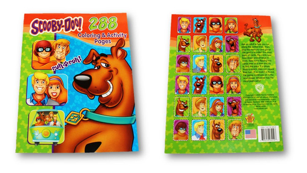 Scooby-doo Ruh Roh! Farbeing & Activity Book (288 Pgs.)