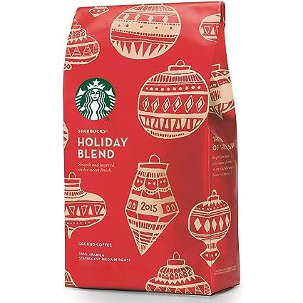 Starbucks Christmas Coffee.Starbucks Holiday Blend Ground Coffee Soft Layered 10 Oz