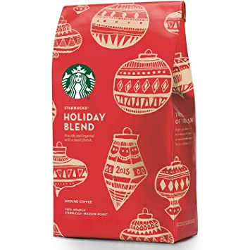 Amazon.com : Starbucks Holiday Blend Ground Coffee - Soft ...